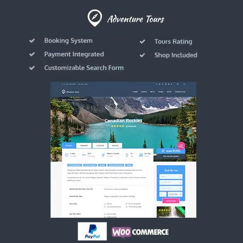 Adventure Tours WordPress Tour Travel Theme