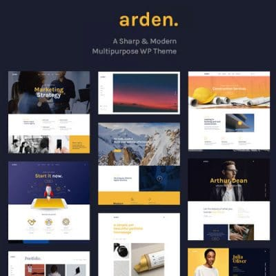 Arden – A Sharp Modern Multipurpose WordPress Theme