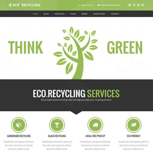 Eco Recycling – Ecology Nature WordPress Theme