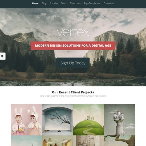 Elegant Themes Vertex WordPress Theme