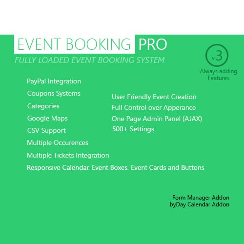 Event Booking Pro WP Plugin paypal or offline