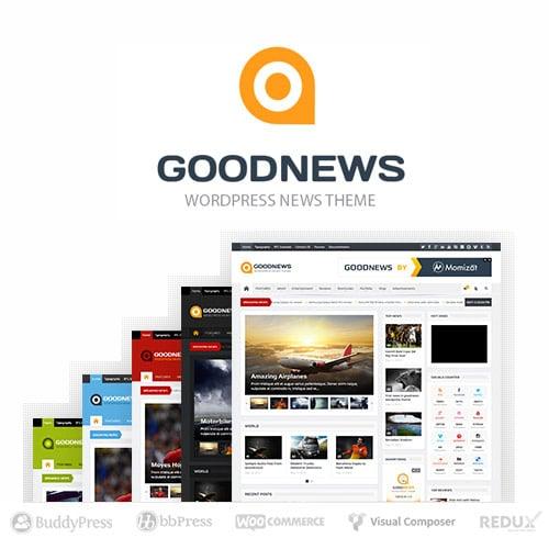 Goodnews Responsive WordPress News Magazine