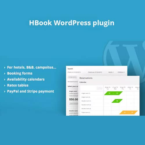 HBook Hotel booking system WordPress Plugin