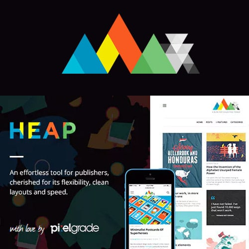 HEAP A Snappy Responsive WordPress Blog Theme