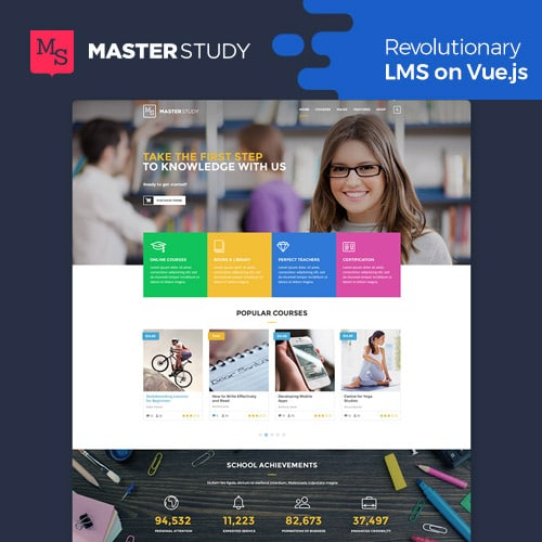 Masterstudy Education LMS WordPress Theme for Education eLearning and Online Courses