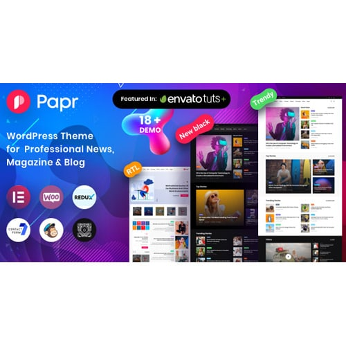 News Magazine Papr News Magazine WordPress Theme