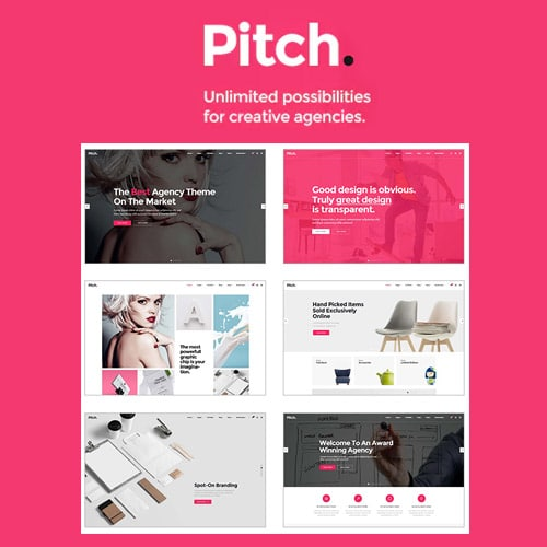 Pitch – A Theme for Freelancers and Agencies