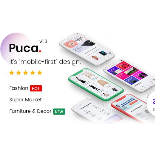 Puca – Optimized Mobile WooCommerce Theme