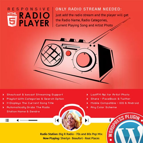 Radio Player Shoutcast Icecast WordPress Plugin
