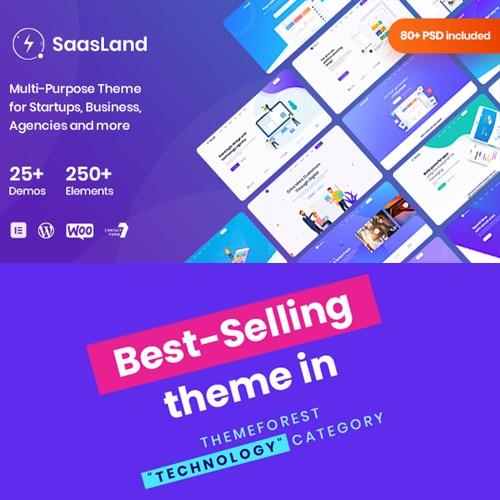 Saasland MultiPurpose WordPress Theme for Startup