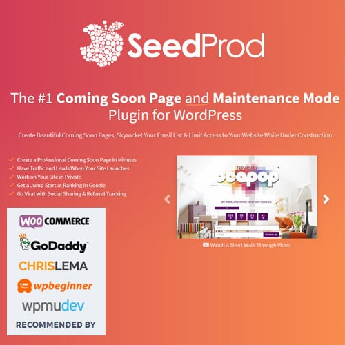 SeedProd Coming Soon Pro – WordPress Coming Soon Pages Maintenance Mode