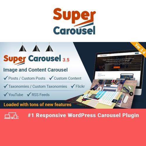 Super Carousel Responsive Wordpress Plugin