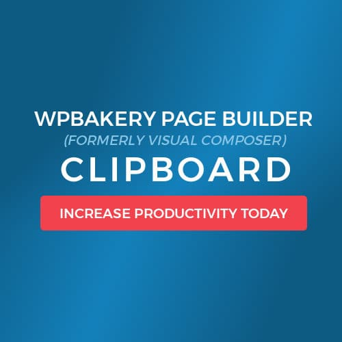 WPBakery Page Builder Visual Composer Clipboard