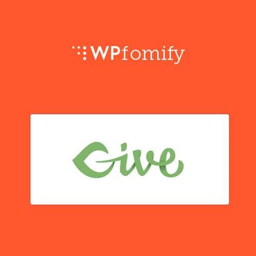 WPFomify GIVE Addon