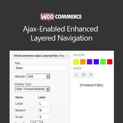 WooCommerce Ajax Enabled Enhanced Layered Navigation