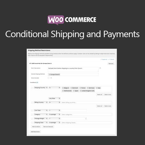 WooCommerce Conditional Shipping and Payments 1