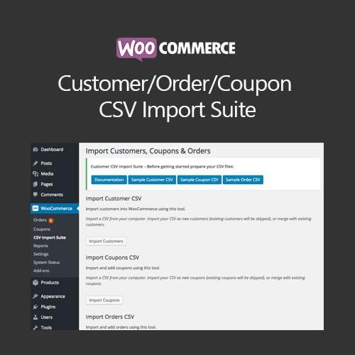 WooCommerce CustomerOrderCoupon CSV Import Suite