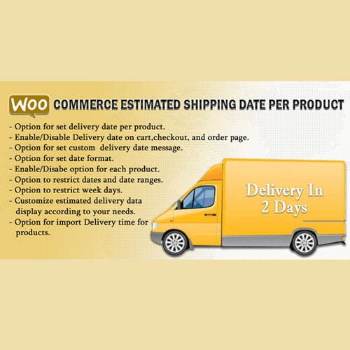 WooCommerce Estimated Shipping Date Per Product