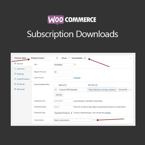 WooCommerce Subscription Downloads