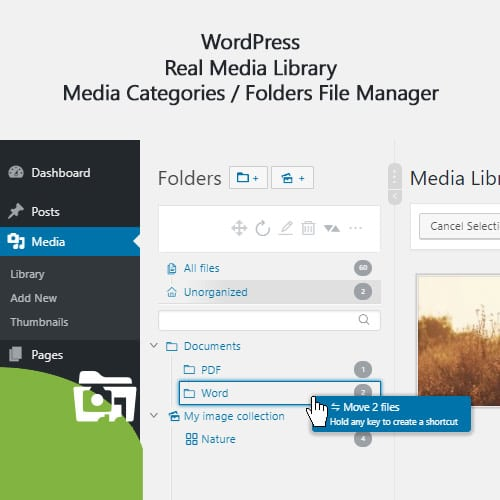 WordPress Real Media Library – Media Categories Folders File Manager