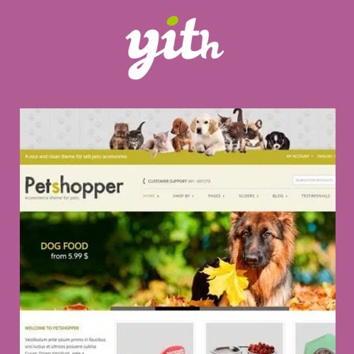 YITH Petshopper – E Commerce Theme for Pets Products