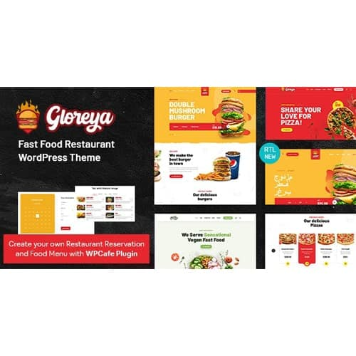 Restaurant Fast Food Delivery WooCommerce Theme Gloreya