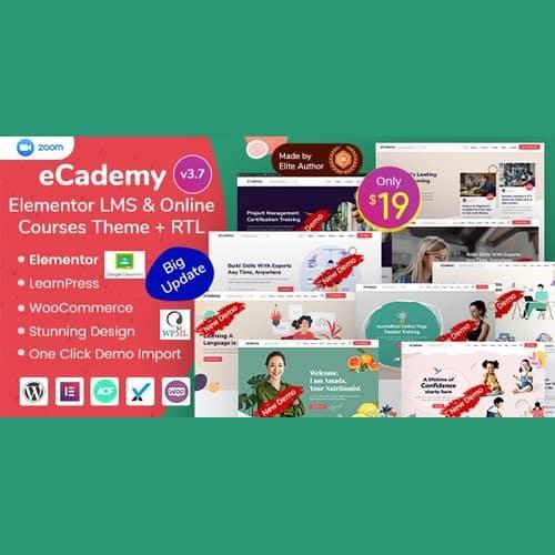 eCademy Elementor LMS Online Courses Education Theme