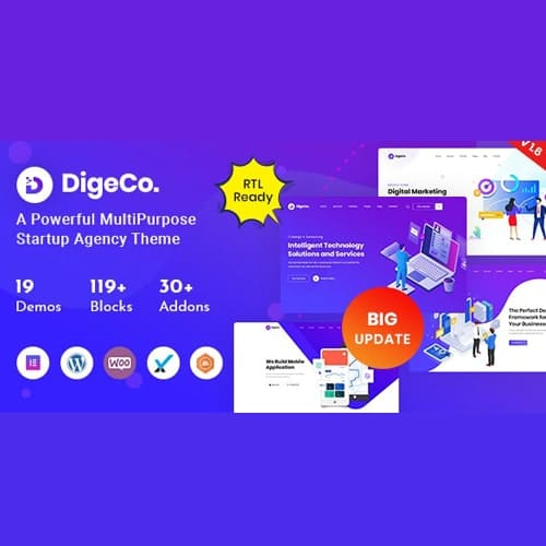 Digeco – Startup Agency WordPress Theme