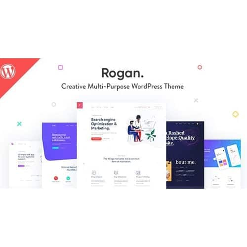 Rogan Creative Multipurpose WordPress Theme for Agency Saas Portfolio
